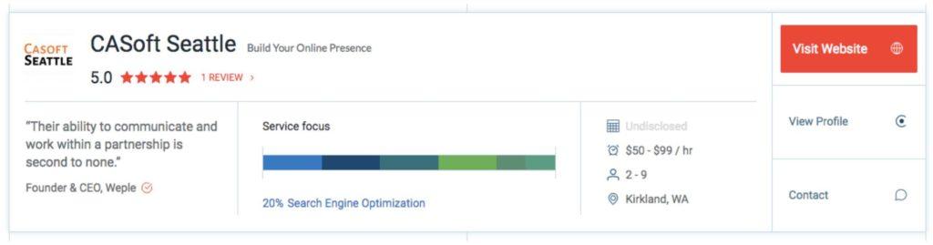 CASoft Seattle Client Reviews   Clutch.co